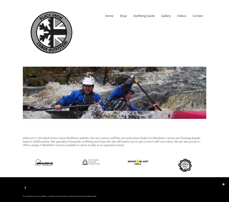 Black Snow Canoe Outfitters Website
