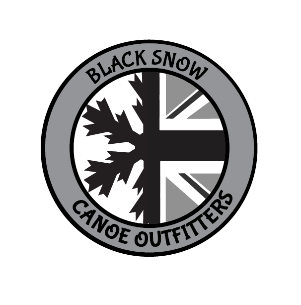 Black Snow Canoe Outfitters Logo